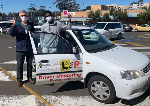 Uwitonze and Steve L2P driver mentoring