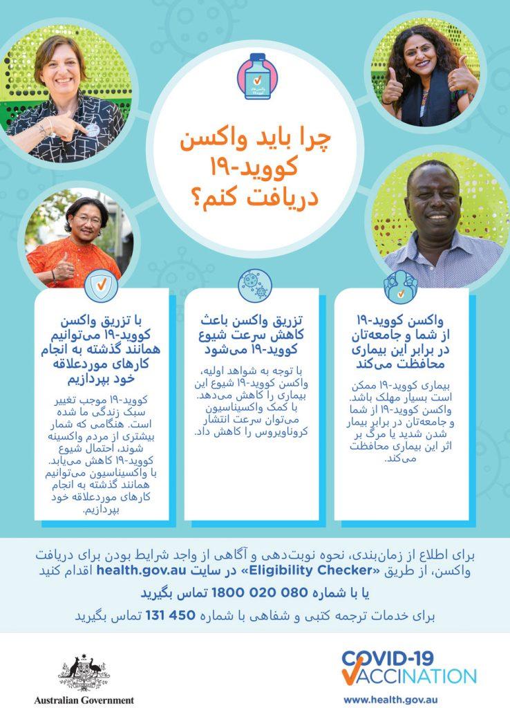 COVID-19 vaccination Persian