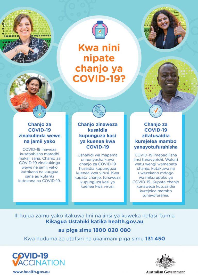 COVID-19 vaccination Swahili
