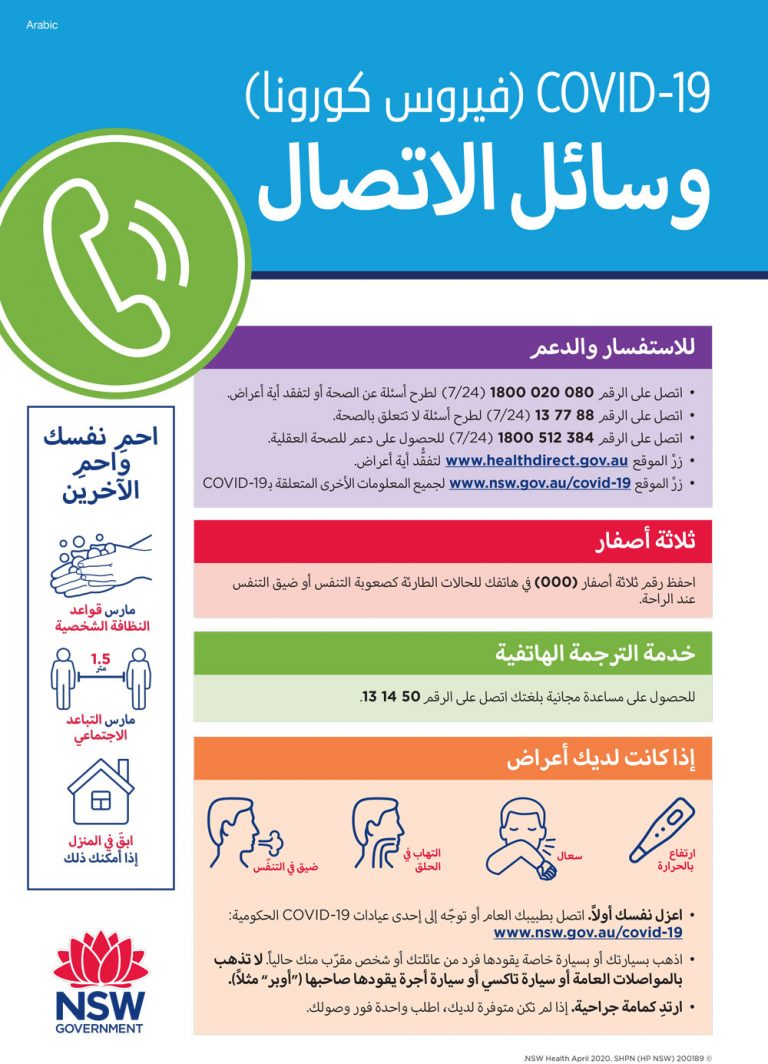 Who to call Arabic
